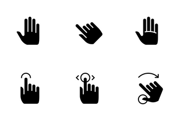 Hands & Gestures (glyph) Icon Pack