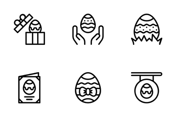 Happy Easter Day Icon Pack