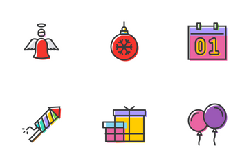Happy New Year Icon Pack