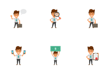 Happy Office Workers  Icon Pack