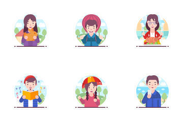 Happy People Icon Pack