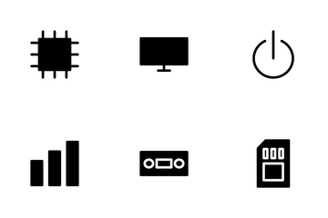 Hardware Glyph Icon Pack