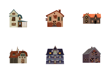 Haunted House - Flat Icon Pack