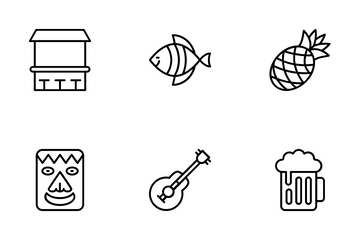 Hawaii Symbols Icon Pack
