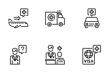 Health Tourism Icon Pack