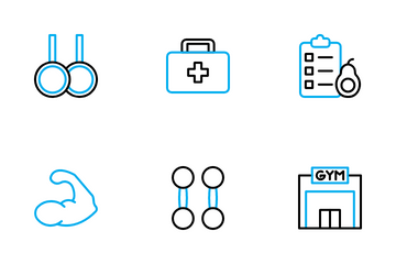 Healthy Fitness And Gym Icon Pack