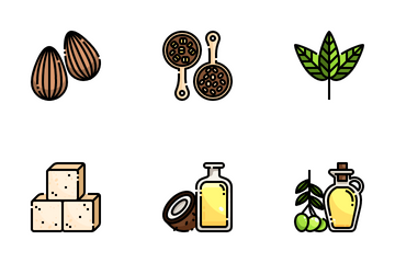 Healthy Food And Vegan Icon Pack