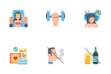 Healthy Life Flat - Live Long And Prosper Icon Pack