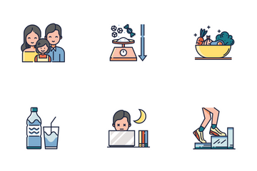 Healthy Life Line Color - Live Long And Prosper Icon Pack