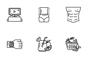 Healthy Lifestyle Icon Pack
