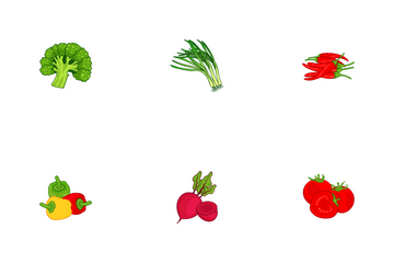 Healthy Vegetable Food Icon Pack