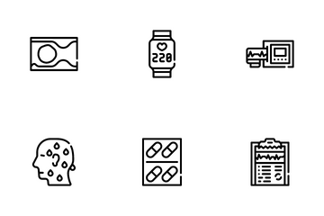 Heart Attack Disease Icon Pack