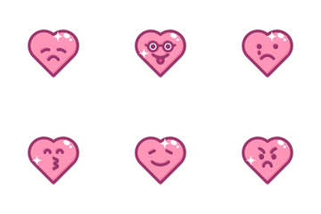 Hearts Emoji Icon Pack