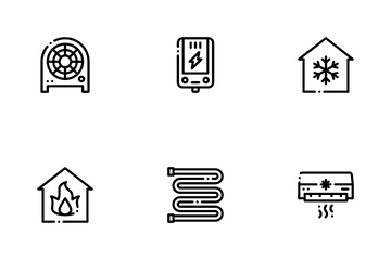 Heating And Cooling Icon Pack