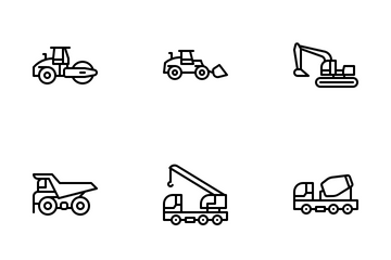 Heavy Machinery Icon Pack