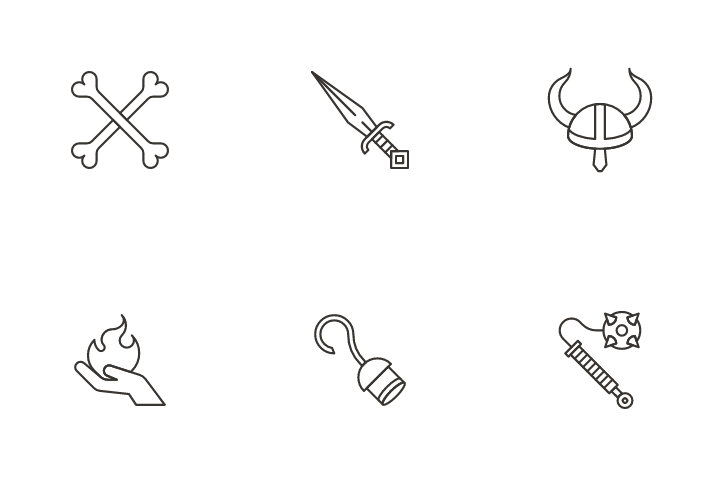 Helmet And Protection Icon Pack