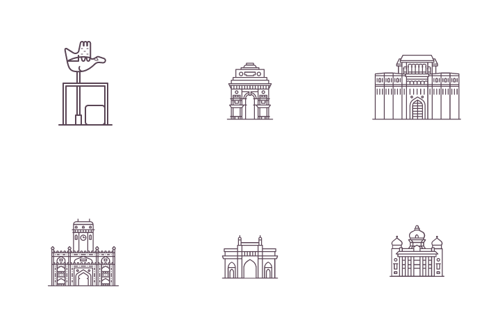 Heritage Places - Indian Cities  Icon Pack