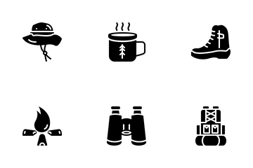 Hiking Outdoor Icon Pack