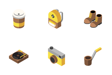 Hipster Elements Isometric - Histerism Icon Pack