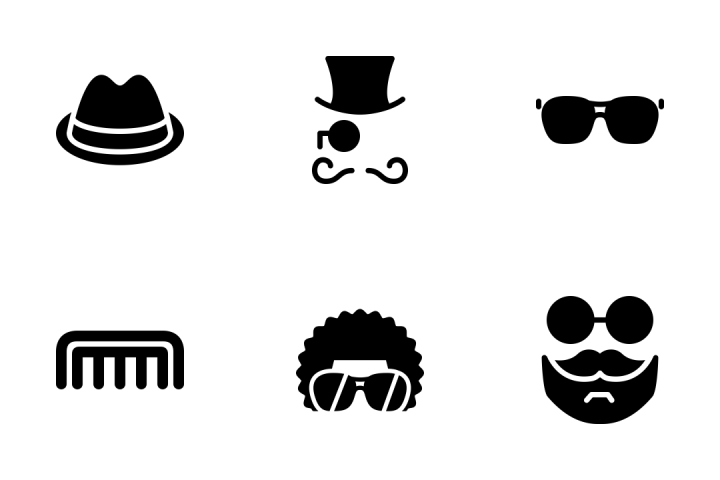 Hipster Style Icon Pack