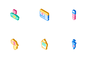 Hiv And Aids Disease Icon Pack