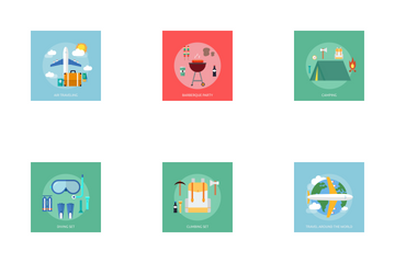 Holiday And Recreations Icon Pack