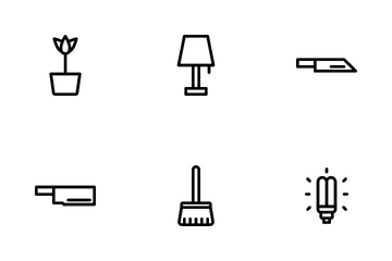 Home Appliances And Furniture Icon Pack