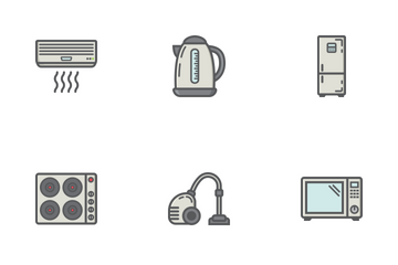 Home Appliances Filled Outline Icon Pack