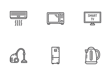 Home Appliances Line Icons Icon Pack