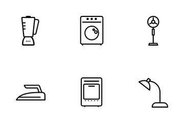 Home Electronic Equipment Icon Pack