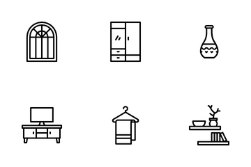 Home Stuffs & Decoration Icon Pack