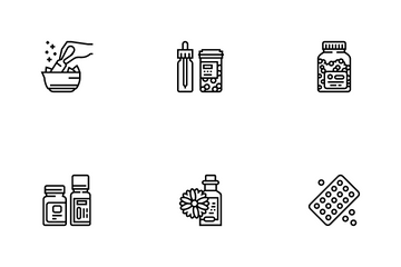 Homeopathy Medicine Icon Pack