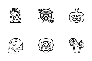 Horror Decoration Icon Pack
