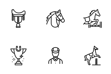 Horse Riding Icon Pack