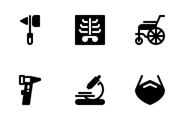 Hospital And Medical Devices Icon Pack