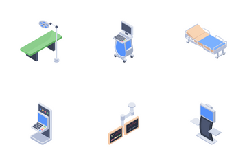 Hospital Equipment Icon Pack
