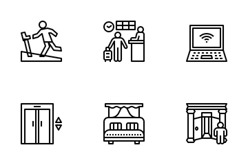 Hotel And Accommodation Icon Pack
