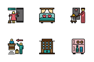 Hotel And Hospitality Icon Pack