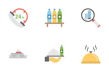 Hotel And Restaurant Icon Pack