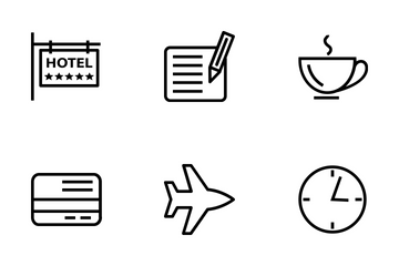 Hotel And Restaurant Line Icons Icon Pack