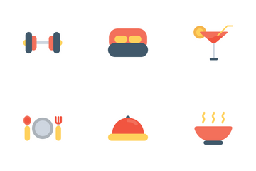 Hotel Icon Flat Icon Pack