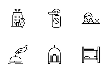 Hotel Service Line Icon Pack