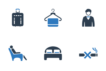 Hotel Services & Facilities (Blue Series) Icon Pack