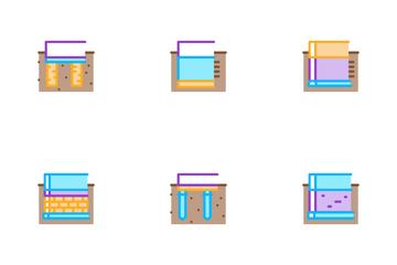 House Foundation Base Icon Pack