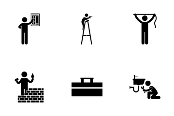 House Repairman Icon Pack