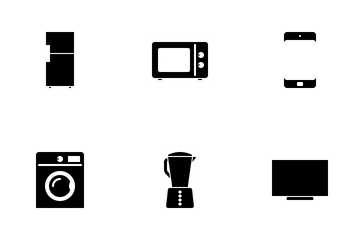 Household Items Black Icon Pack