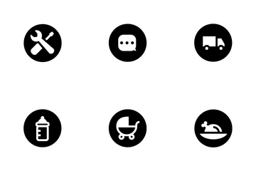 Household Rounded Solid Icon Pack