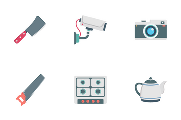 Household Tools And Devices Icon Pack