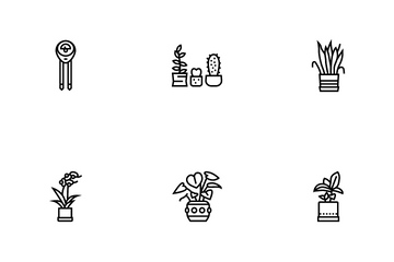Houseplant Store Sale Icon Pack