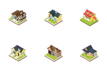 Houses Buildings Icon Pack